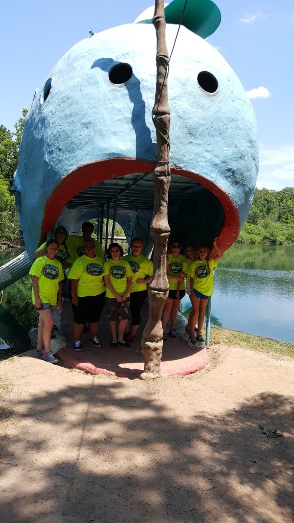 Muskogee - Summer 2015 - The iconic Blue Whale on Rte 66! YVC field trip with Camp Bennett